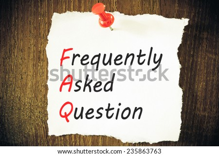 frequently asked question (FAQ) concept - stock photo