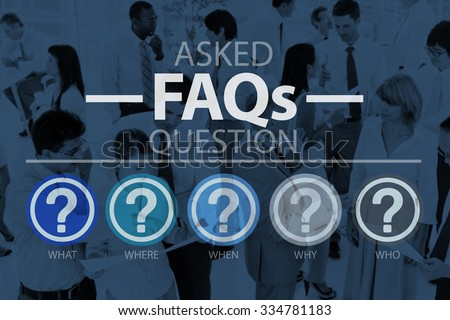 Frequently Asked Questions Asking Reply Response Concept - stock photo