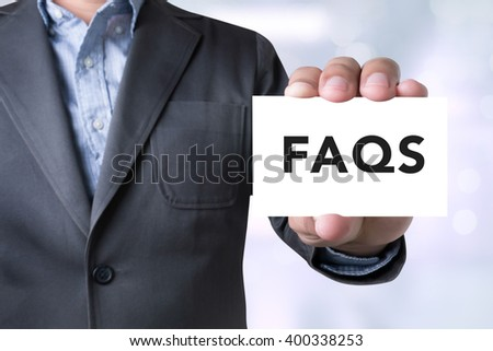 Frequently Asked Questions Faq Feedback  Concept - stock photo
