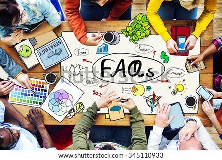 Frequently Asked Questions Faq Feedback Information Concept - stock photo