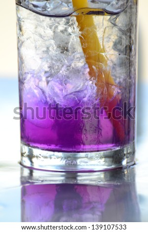 Fresh and cold nectar drink in glass Image. - stock photo