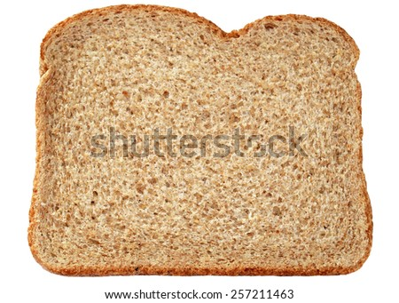 Fresh and nutritious whole wheat bread isolated on white background - stock photo