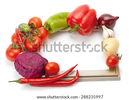 fresh and ripe vegetables isolated on white background - stock photo