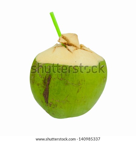fresh and sweet coconut Water Drink - stock photo