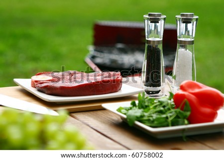 fresh and very tasty grilled steak - stock photo