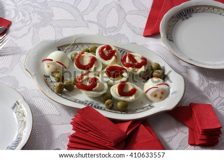 fresh appetizer on table  - stock photo