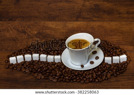 Fresh aromatic coffee to start your morning - stock photo