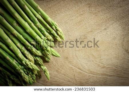 Fresh asparagus - stock photo