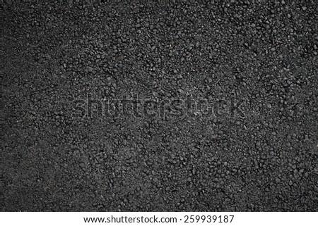 Fresh asphalt surface background, top view - stock photo