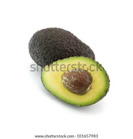 Fresh avocado cutted - stock photo