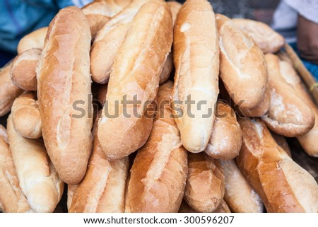 Fresh baked traditional bread - stock photo