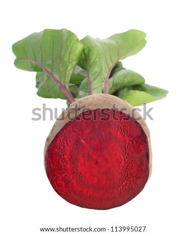 fresh beet on white background - stock photo