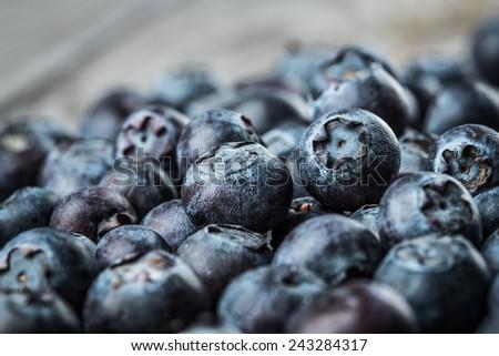 Fresh Berries - Blueberries background closeup - stock photo