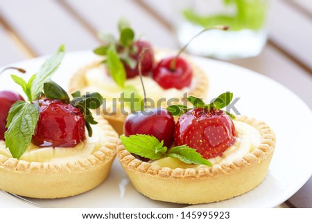 Fresh Berry Tarts - stock photo
