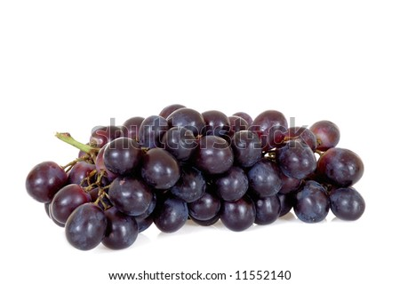 Fresh bio fruit, white background, reflective surface - stock photo