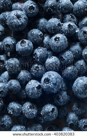 Fresh blueberries on a local market - stock photo