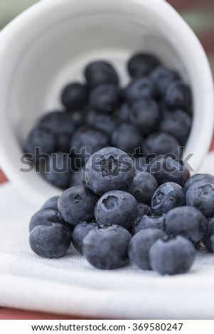 Fresh Blueberry in Cup - stock photo