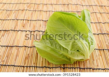 Fresh boston lettuce - stock photo
