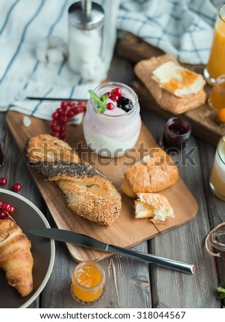 fresh breakfast - stock photo