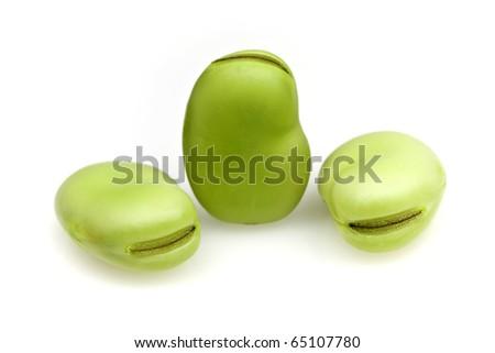 Fresh Broad Beans - stock photo