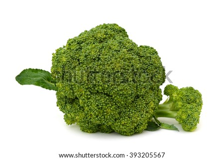 Fresh Broccoli vegetable isolated on white background - stock photo