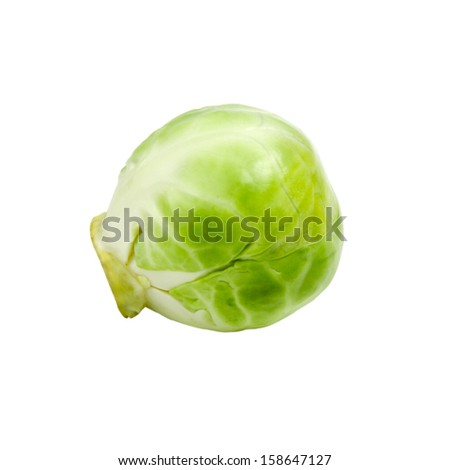 Fresh brussels sprout isolated on white background - stock photo
