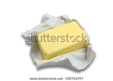 fresh butter - stock photo