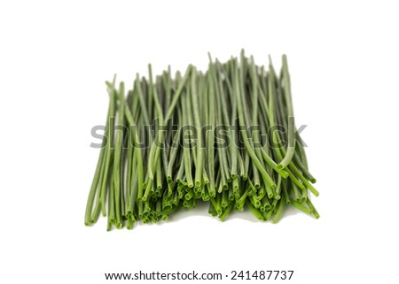 Fresh Chives Isolated on a White Background  - stock photo
