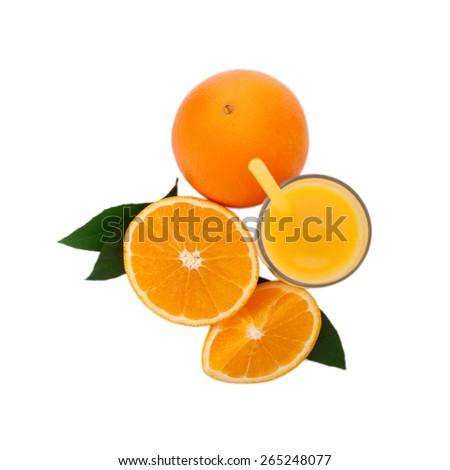 Fresh citrus juice on white background - stock photo