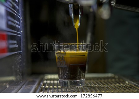Fresh coffee Coffee Maker. - stock photo