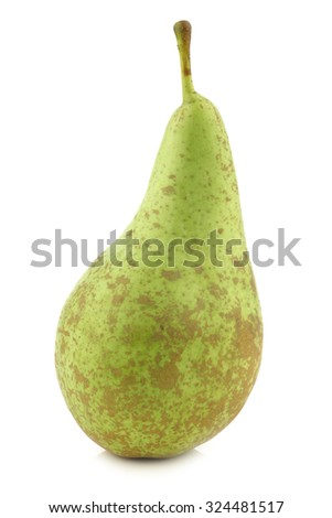 fresh conference pear on a white background - stock photo