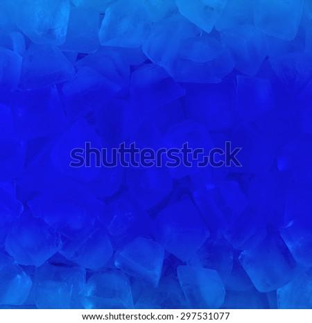 fresh cool  blue ice cube background - stock photo