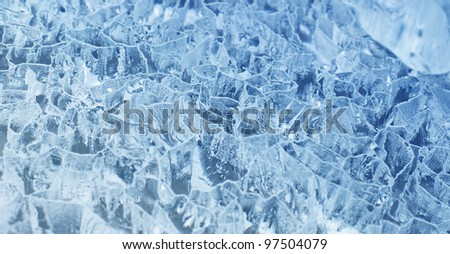 fresh cool ice  background or wallpaper for summer or winter - stock photo
