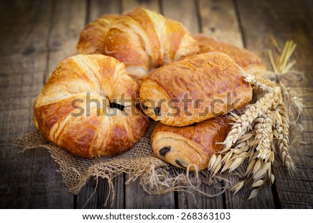 Fresh croissant - stock photo