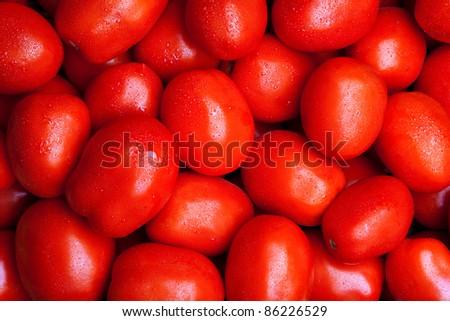 fresh delicious tomato background - stock photo