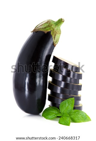 Fresh eggplant  - stock photo