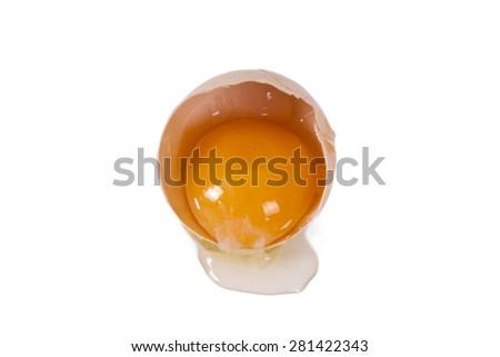 fresh eggs isolated - stock photo