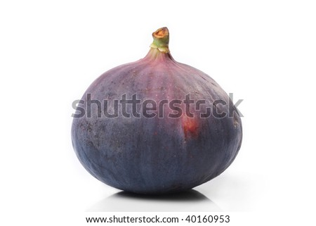 Fresh fig isolated on the white - stock photo