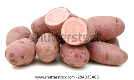 fresh fingerling potatoes - stock photo