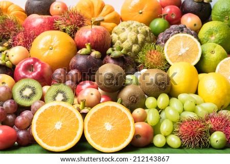 Fresh Fruit Grouped - stock photo