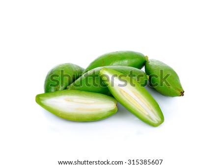 Fresh garcinia ,madan sour flavor  - stock photo