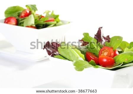 fresh garden salad - stock photo