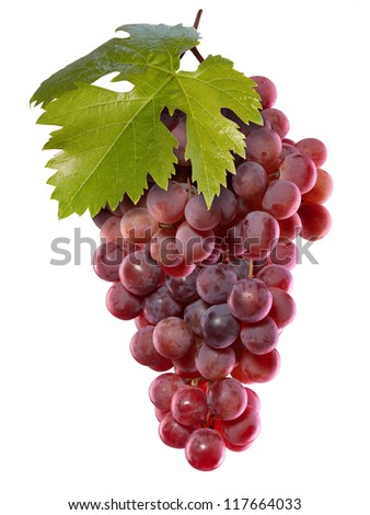 Fresh grapes. Isolated on white - stock photo