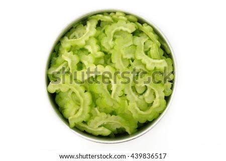 Fresh green bitter gourd - stock photo