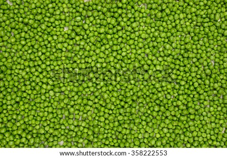 fresh green peas background texture top view - stock photo