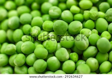 fresh green Peas background texture vegetable - stock photo