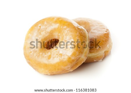 Fresh Homemade Donuts against a background - stock photo