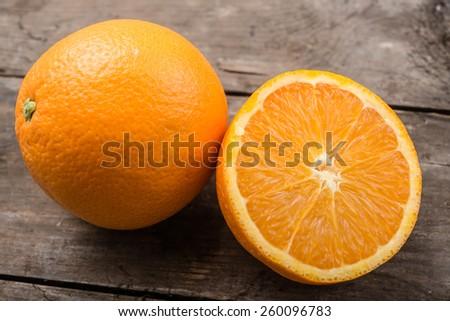 Fresh, juicy orange - stock photo