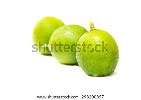 Fresh Juicy ripe lemon on white background - stock photo