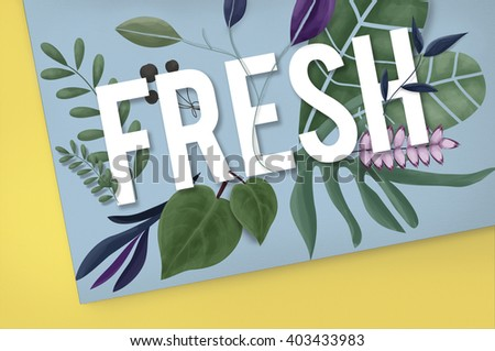Fresh Leaves Green Healthy Organic Concept - stock photo